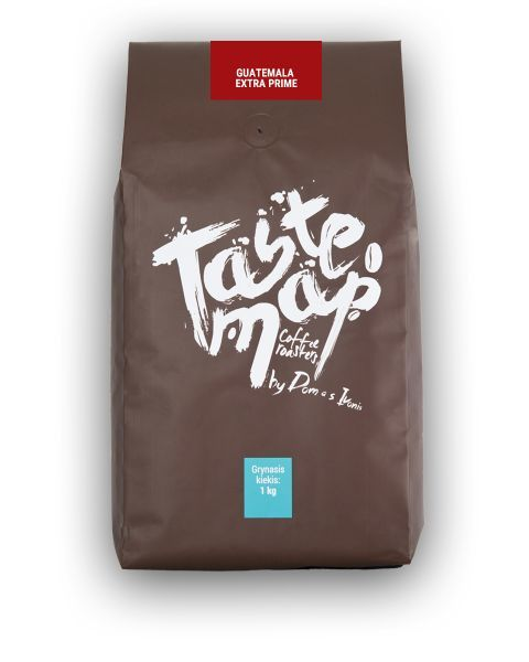 Šviežiai skrudinta kava Taste Map GUATEMALA EXTRA PRIME, 1kg