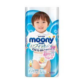 Japoniškos sauskelnės - kelnaitės MOONY berniukams, XL dydis, 12-22 kg, 38 vnt.