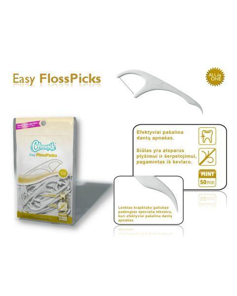 "CLEANPIK Easy FlossPick"" dantų siūlas su krapštuku, 50vnt 3"