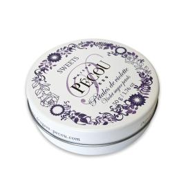 """Pastilės PECOU """"Violetiniai cukraus žiedlapiai"""" metalinėje dėžutėje, 50 g"""