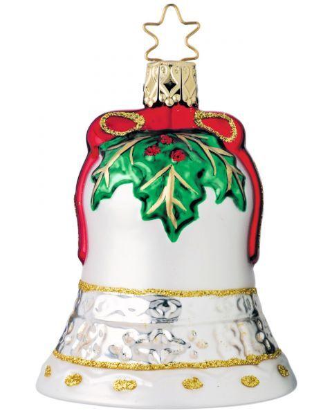"""Rankų darbo kalėdinis žaisliukas INGE-GLAS® """"Kalėdinis varpelis"""", 8 cm, 1 vnt."""