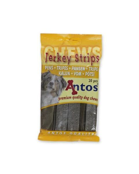 Plokštelės su žarnokais šunims Jerkey Strips Tripe, 20 vnt
