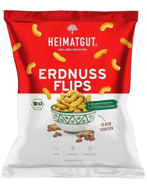 Ekologiški žemės riešutų traškučiai HEIMATGUT Erdnuss Flips, 115 g