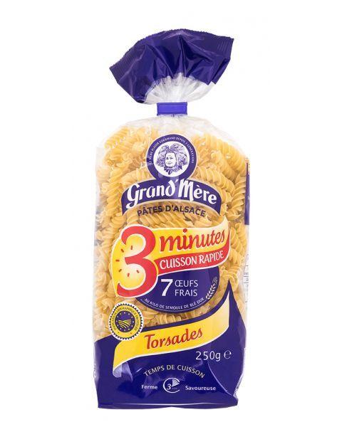 Greito paruošimo makaronai su kiaušiniais GRAND'MERE sraigteliai, 250 g.