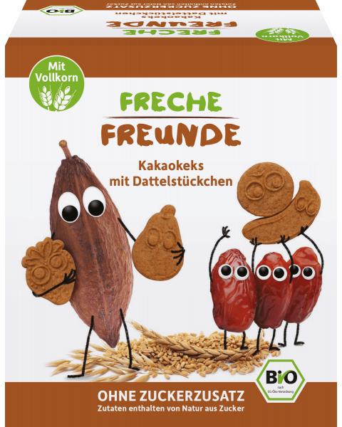 Kakaviniai sausainiai FRECHE FREUNDE su datulėmis, 125 g