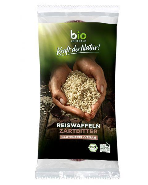 Ekologiški ryžių trapučiai su juoduoju šokoladu BIOZENTRALE, 100g