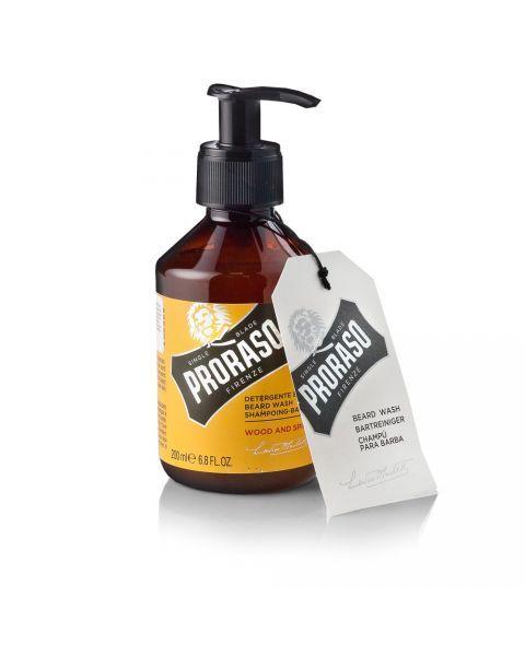 Prieskonių ir medienos aromato barzdos šampūnas PRORASO, 200 ml