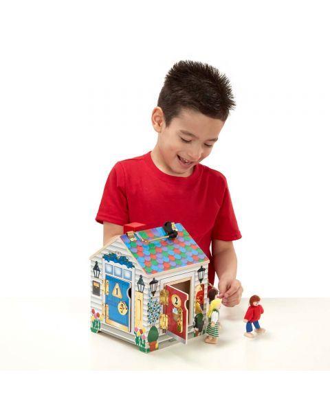 Lėlių namas su durų skambučiais ir spynelėmis MELISSA & DOUG, 1 vnt. 5