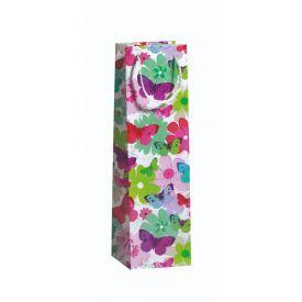 Dovanų maišelis ZOEWIE Butterflies (10.5x10.5x36 cm), 1 vnt.