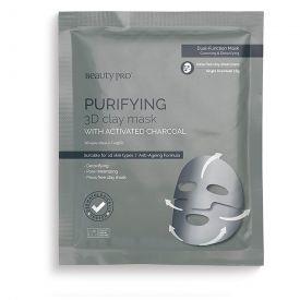 Valanti veido kaukė BEAUTY PRO Purifying 3D su aktyvinta anglimi, 18 g