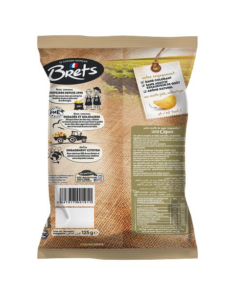 Bulvių traškučiai BRET'S grybų skonio, 125g 2