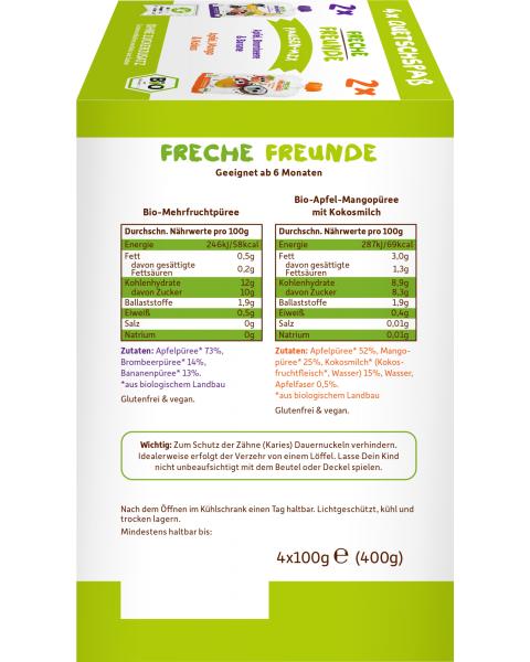 Ekologiškas tyrelių rinkinys FRECHE FREUNDE Break mix, 4x100 g. 3