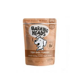 Konservai šunims su kalakutiena BARKING HEADS TOP DOG, 300g