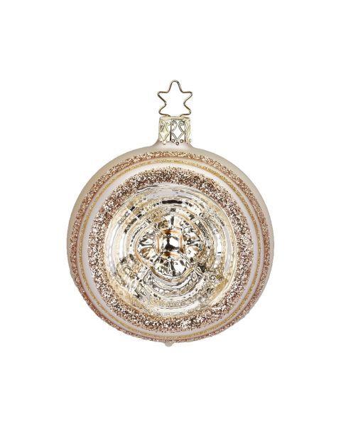 """Rankų darbo kalėdinis žaisliukas INGE-GLAS® """"Šampano atspindžiai - burbulas"""", 6 cm, 1 vnt."""
