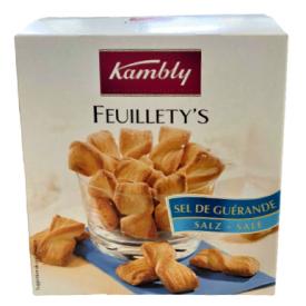 Duonos lazdelės KAMBLY Feuillety's su druska, 75g
