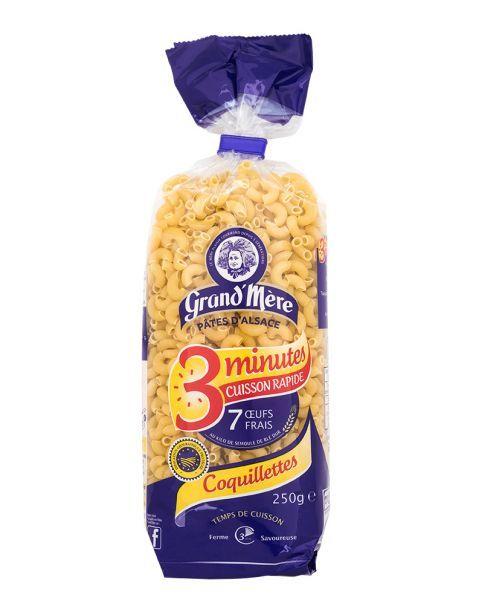 Greito paruošimo makaronai su kiaušiniais GRAND'MERE maži rageliai, 250 g.