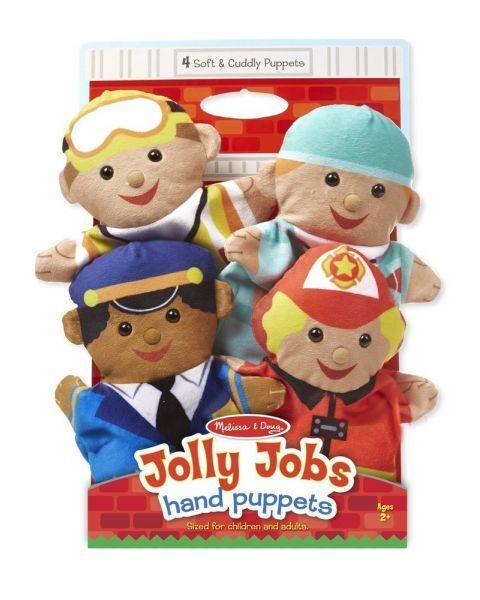 "Lėlės ant rankų MELISSA & DOUG ""Jolly Helpers"", 4 vnt."