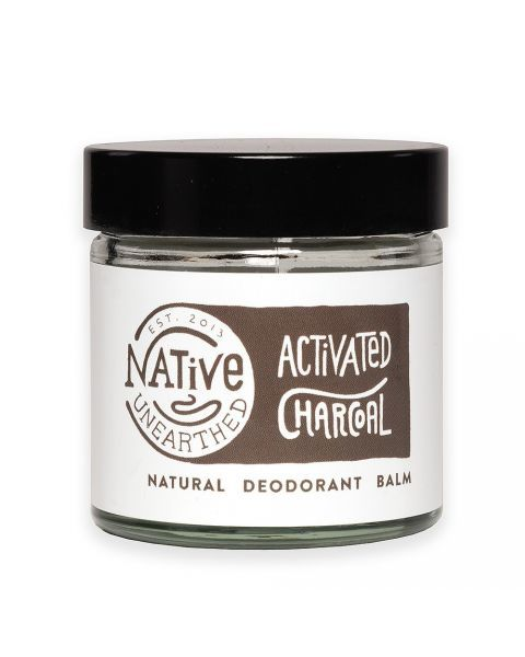 Natūralus dezodoruojantis balzamas NATIVE UNEARTHED su aktyvinta anglimi, 60 ml