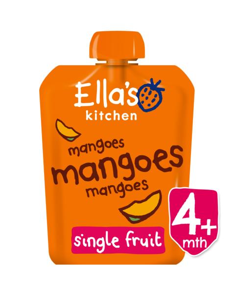 Ekologiška mangų tyrelė ELLA'S KITCHEN kūdikiams nuo 4 mėn., 70 g