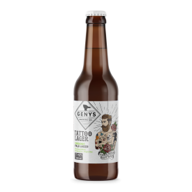 "Alus GENYS ""Organic Tattoo Lager"" 4,0%, 330ml"