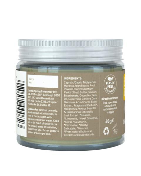 Natūralus tepamas dezodorantas SALT OF THE EARTH su gintaru ir santalu, 60g 2