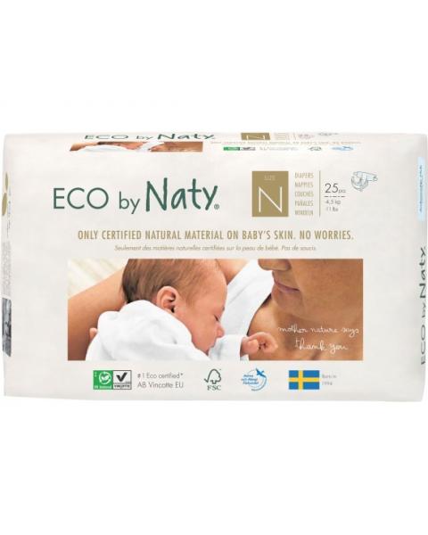 Sauskelnės EKO by NATY kūdikiams iki 4,5 kg, 25 vnt.