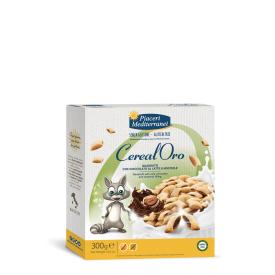 Pusryčių dribsniai su lazdyno riešutų kremu ir šokoladu PIACERI MEDITERRANEI, be gliuteno, 300 g