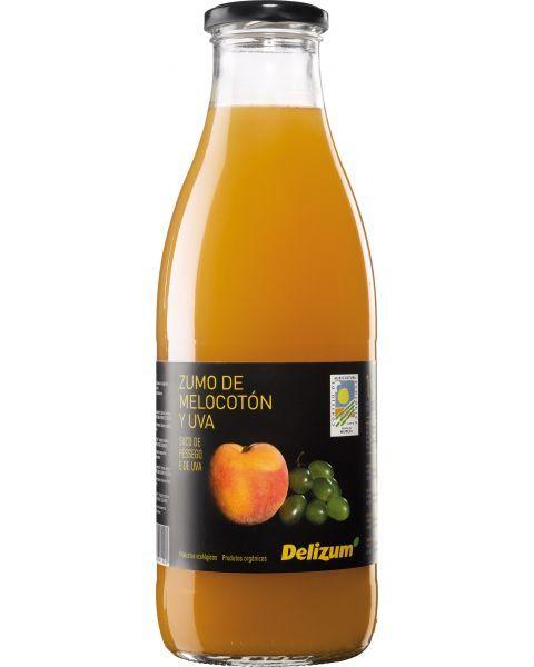 Ekologiškos persikų ir baltųjų vynuogių sultys DELIZUM, 750ml
