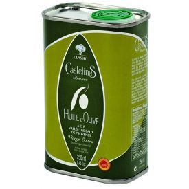 Ypač tyras alyvuogių aliejus CASTELAS Classic AOP skardoje, 250 ml