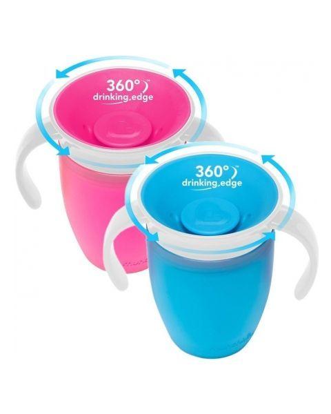 Mėlyna gertuvė MUNCHKIN Miracle 360° vaikams nuo 6 mėn., 207 ml (012094) 2