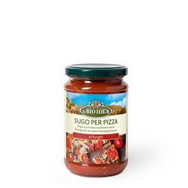 Ekologiškas pomidorų padažas picai LA BIO IDEA su grybais, 300 g