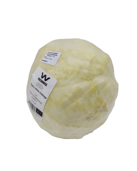 Ekologiškas baltagūžis kopūstas FRESHWISE (fasuotas), 1 vnt 2