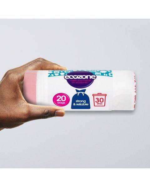 Suyrantys šiukšlių maišai ECOZONE, 30 L, 20 vnt 2