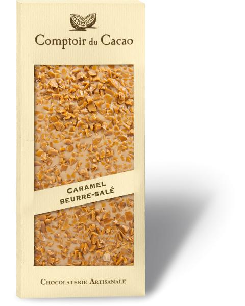 Šviesus šokoladas COMPTOIR du CACAO su sūria karamele, 90 g