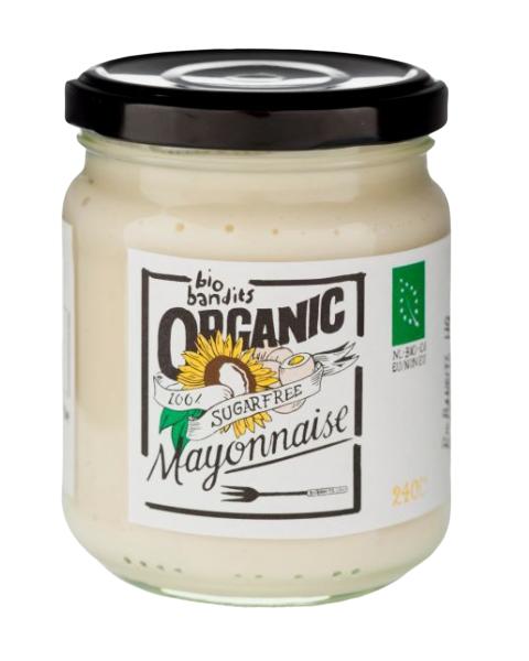 Ekologiškas majonezas BIO BANDITS, be cukraus, 240 ml