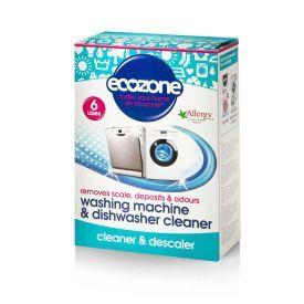 Indaplovių ir skalbimo mašinų valymo tabletės ECOZONE, 6 vnt