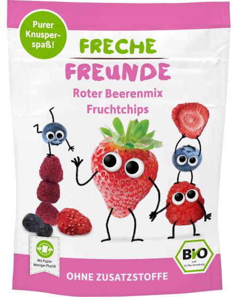 Ekologiški įvairių uogų traškučiai FRECHE FREUNDE, 10 g