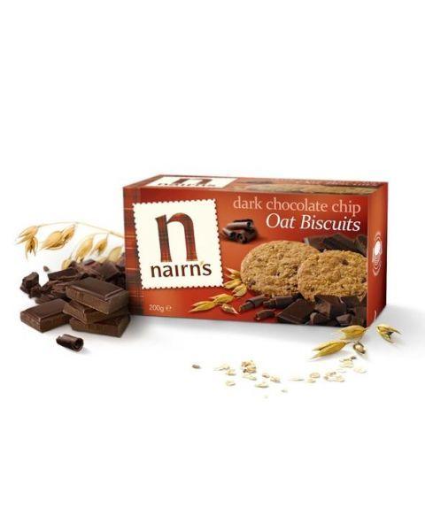 NAIRN'S avižiniai sausainiai su juoduoju šokoladu,200g