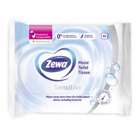 Šlapias tualetinis popierius ZEWA Pure, 42vnt.