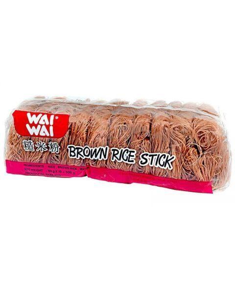 Rudųjų ryžių vermišeliai WAI WAI 500 g