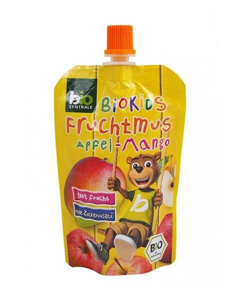 Ekologiška obuolių ir mangų tyrelė BIOKIDS, 90 g