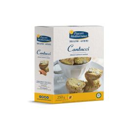 Sausainiai Cantuccini su migdolais PIACERI MEDITERRANEI, be gliuteno, 250 g