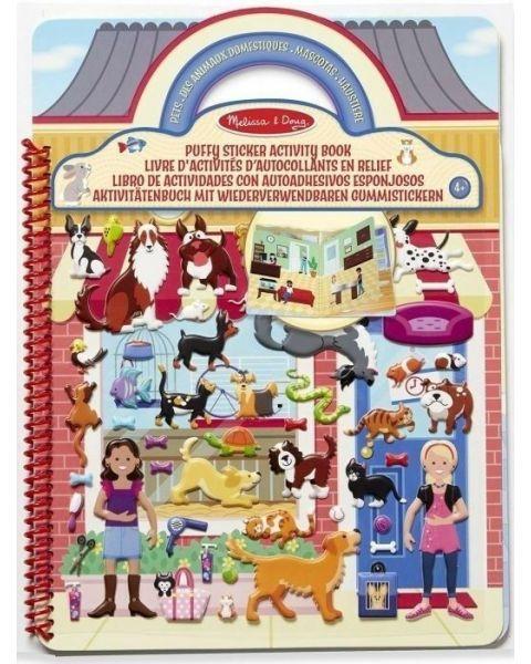"""Užduočių knyga su lipdukais MELISSA & DOUG """"Pets Place"""", 1 vnt."""
