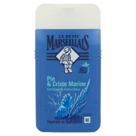 Drėkinanti dušo želė vyrams su jūros druska ir pušų ekstraktu LE PETIT MARSEILIAIS, 250 ml