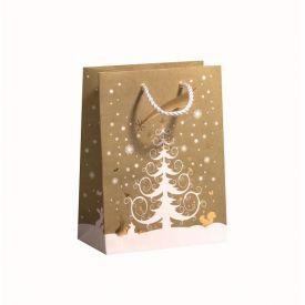 Dovanų maišelis ZOEWIE White Christmas Tree (17x9.2x22.5 cm), 1 vnt.