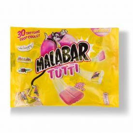 Kramtomoji guma MALABAR Tutti su lipduku, 214 g