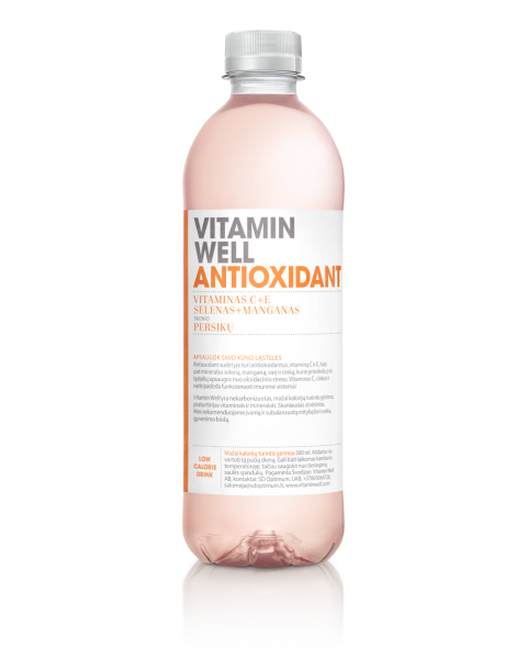 Vitaminų gėrimas Vitamin Well Antioxidant, 500ml