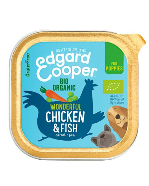 Konservai šunims EDGARD & COOPER su ekologiška vištiena, 100 g
