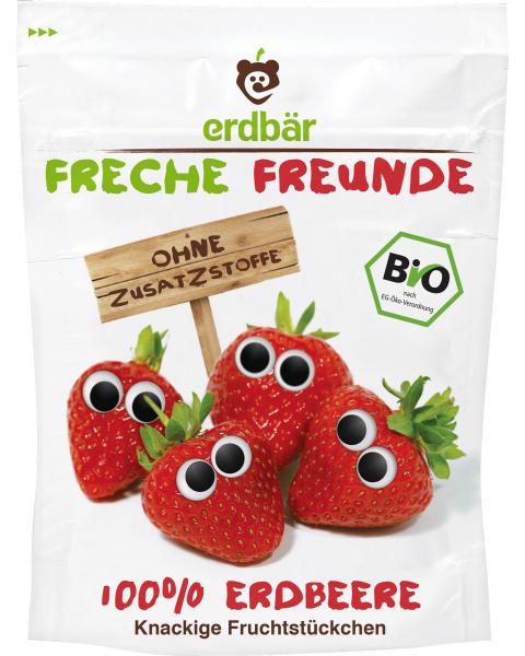 Ekologiški liofilizuoti braškių traškučiai FRECHE FREUNDE, 12 g