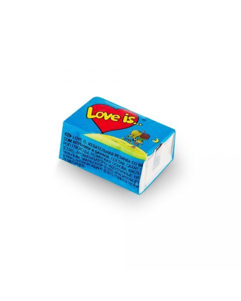 Kramtoma guma, Love Is, 4,5g (mėlyna)